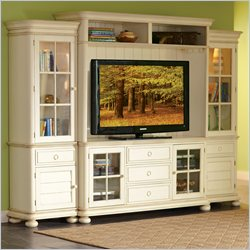 Riverside Furniture Placid Cove TV Entertainment Center in Honeysuckle White