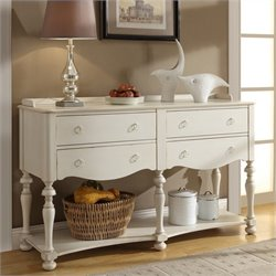 Riverside Furniture Placid Cove Server in Honeysuckle White