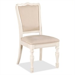 River Furniture Placid Cove Upholstered  Dining Chair in Honeysuckle White