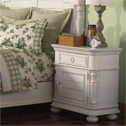 Riverside Furniture Placid Cove Doored Nightstand in Honeysuckle White