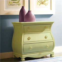 Riverside Furniture Placid Cove Bombe Nightstand in Seagrass Green