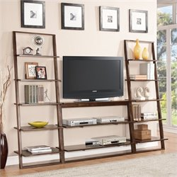 Riverside Furniture Lean Living 3 Piece TV Stand Set in Burnished Brownstone