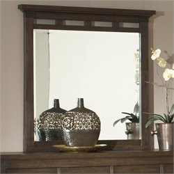 Riverside Furniture Promenade Mirror in Warm Cocoa