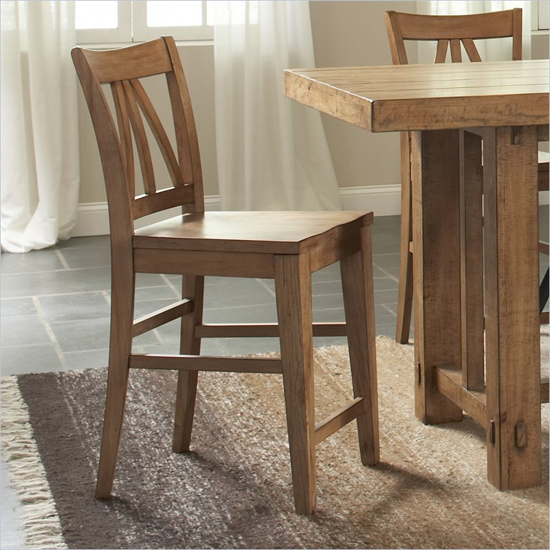 Summerhill Counter Height Dining Side Chair in Canby Rustic Pine
