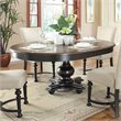 Riverside Furniture Williamsport Round/Oval Dining Table in Nutmeg/Kettle Black