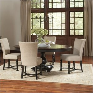Riverside Furniture Williamsport 5 Piece Dining Table Set in Nutmeg/Kettle Black