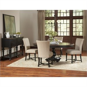 Riverside Furniture Williamsport 6 Piece Dining Table Set in Nutmeg/Kettle Black