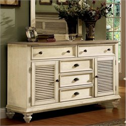 Riverside Furniture Coventry Shutter Door Dresser in Dover White