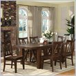 Riverside Furniture Castlewood 7 Piece Dining Table Set in Warm Tobacco