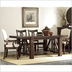 Riverside Furniture Castlewood 5 Piece Dining Table Set in Warm Tobacco