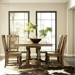 Riverside Furniture Newburgh Dining Table Set in Antique Ginger