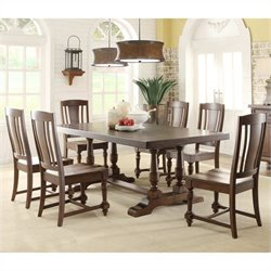 Riverside Furniture Newburgh 7 Piece Dining Table Set in Antique Ginger