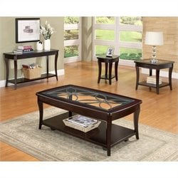 Riverside Annandale 4 Piece Accent Table Set in Dark Mahogany
