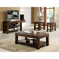 Riverside Castlewood 4 Piece Table Set in Warm Tobacco