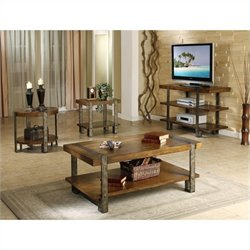 Riverside Sierra 4 Piece Accent Table Set in Landmark Worn Oak