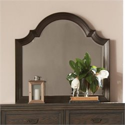 Riverside Furniture Belmeade Arch Mirror in Old World Oak