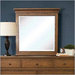 Riverside Furniture Oakmont Mirror in Heartland Medium Oak