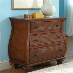 Riverside Furniture Windward Bay Bombe Chest in Warm Rum