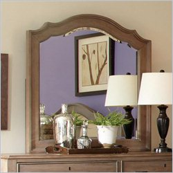 Riverside Furniture Windhaven Arch Mirror in Shenandoah Barnwood
