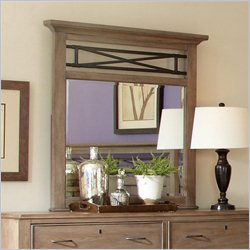Riverside Furniture Windhaven Vertical Mirror in Shenandoah Barnwood