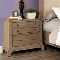 Riverside Furniture Windhaven Two Drawer Nightstand in Shenandoah Barnwood