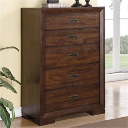Riverside Furniture Riata Five Drawer Chest in Warm Walnut