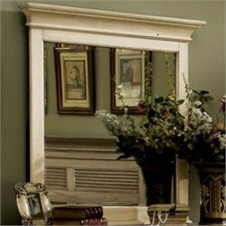 Riverside Furniture Coventry Two Tone Mirror in Dover White