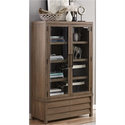 Riverside Furniture Mirabelle 4 Shelf Bookcase in Ecru