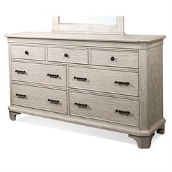 Riverside Aberdeen Seven Drawer Dresser in Weathered Worn White