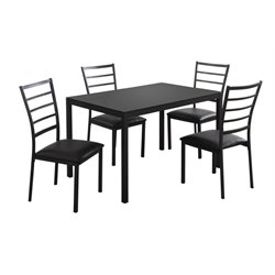 Monarch 5 Piece Dining Set in Black