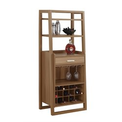 Monarch Ladder Style Home Bar in Walnut