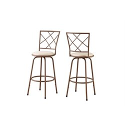 Metal Bar Stool in Brown (Set of 2)