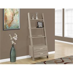 4 Shelf Ladder Bookcase in Dark Taupe