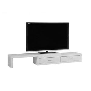 Expandable TV Stand in White