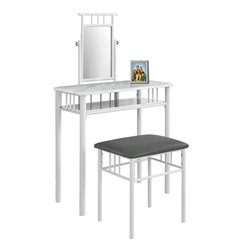 Trent Home 2 Piece Metal Vanity Set in White