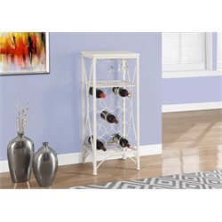 Monarch Metal Wine Rack in White