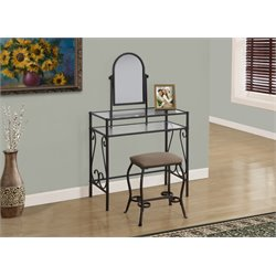 Trent Home 2 Piece Metal Vanity Set in Brown