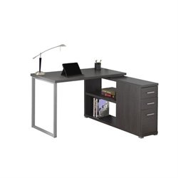 L Shaped Computer Desk in Gray
