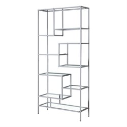 Metal Bookcase in Silver
