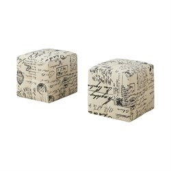 Monarch Cube Ottoman in Vintage French (Set of 2)