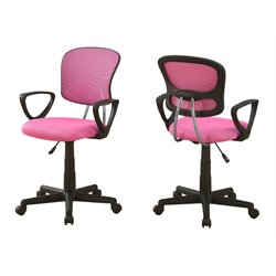 Monarch Adjustable Office Chair in Pink