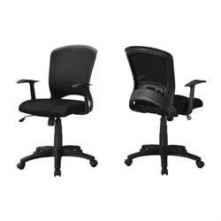 Monarch Adjustable Mid Back Office Chair in Black