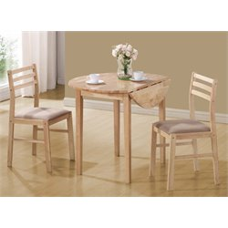 3 Piece Drop Leaf Dinette Set in Natural