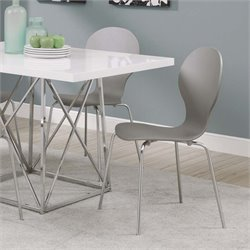 Dining Chair in Gray (Set of 4)