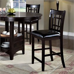 Monarch Counter Stool in Cappuccino (Set of 2)