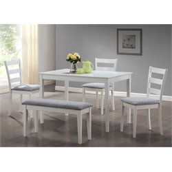 Monarch 5 Piece Dining Set in White