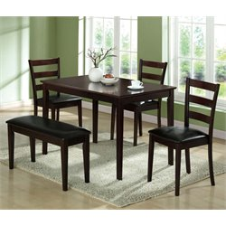 Monarch 5 Piece Dining Set in Cappuccino