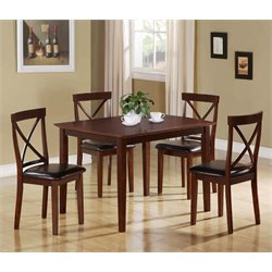 Monarch 5 Piece Dining Set in Dark Cappuccino