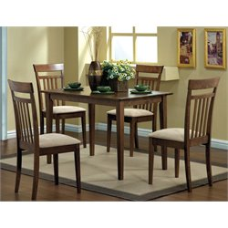 Monarch 5 Piece Dining Set in Walnut