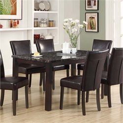 Monarch Faux Marble Top Dining Table in Espresso